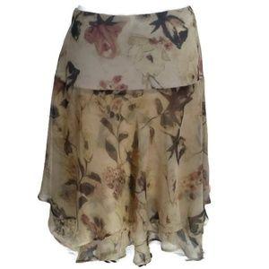 Lauren Ralph Lauren Knee Length Asymetrical Skirt